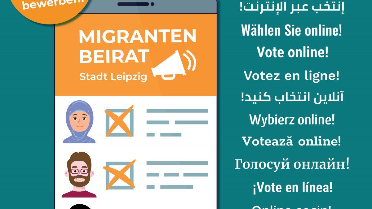 Aushang Migrantenbeiratswahl Leipzig