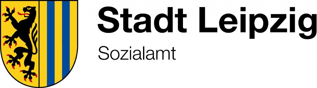 Das Leipziger Stadtwappen mit dem Schriftzug Stadt Leipzig Sozialamt